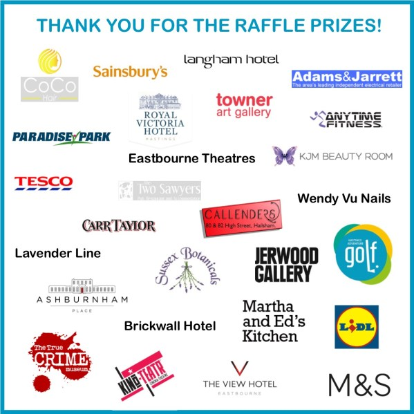 A list of people who donated the raffle prizes