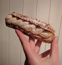 Paris-Brest (choux pastry with praline cream filling)