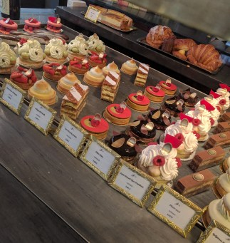 (Ladurée's patisserie display)