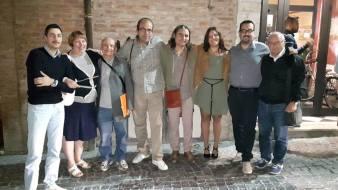Da sinistra: Alessandro Pietropaoli, Giovanna Giacomoni, Antonio Cerquarelli, Stefano Bardi, Enzo, Michela Tombi, Lorenzo Spurio, Elvio Angeletti