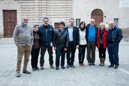 Da sx: Franco Duranti, Gioia Casale, Oscar Sartarelli, Stefano Vignaroli, Susanna Polimanti, Vincenzo Prediletto, Alessandra Montali