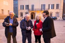 Da sx: Vincenzo Prediletto, Elvio Angeletti, Alessandra Montali, Lorenzo Spurio
