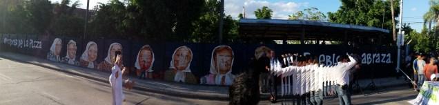 Il murales di Avellaneda oggetto di vandalismo