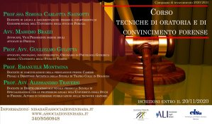 Corso Tecniche di Oratoria e di Convincimento Forense