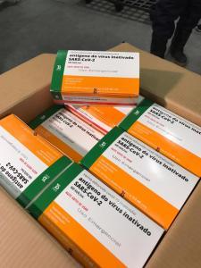 Primeiras doses da vacina CoronaVac. Foto: Ascom SES.