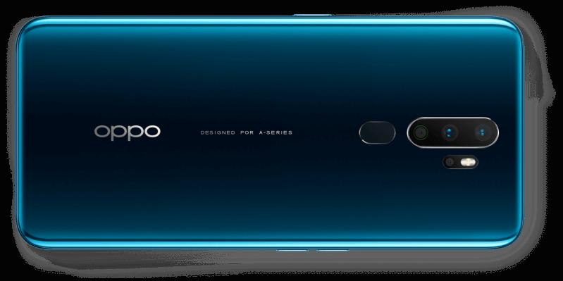 OPPO A9 2020 smartphone back - Dark green gradient