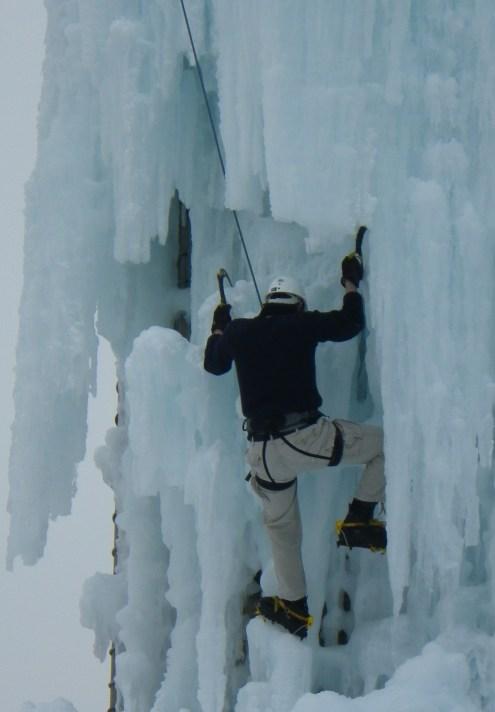Ice climbing. (c) 2015 J.A. Reinitz