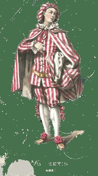 Mezzetin, dessin de Maurice Sand,