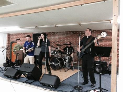 Fr. Robert Sinatra and his band kept the party jumping!