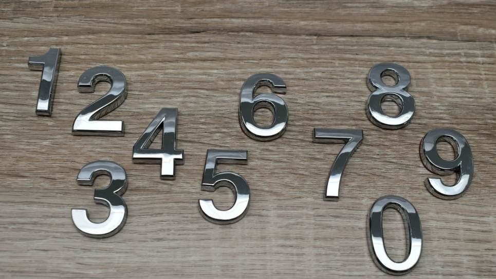 Curved Numbers 3.5cm
