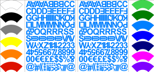 Self Adhesive Alphabet & Numbers