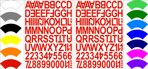 Alphabet and Numbers Sticker