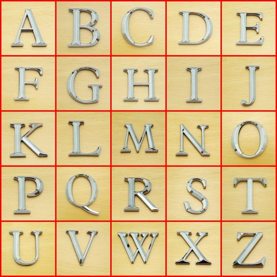 Times Roman Letters 5cm