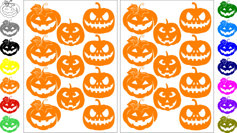 Self Adhesive Halloween Pumpkins