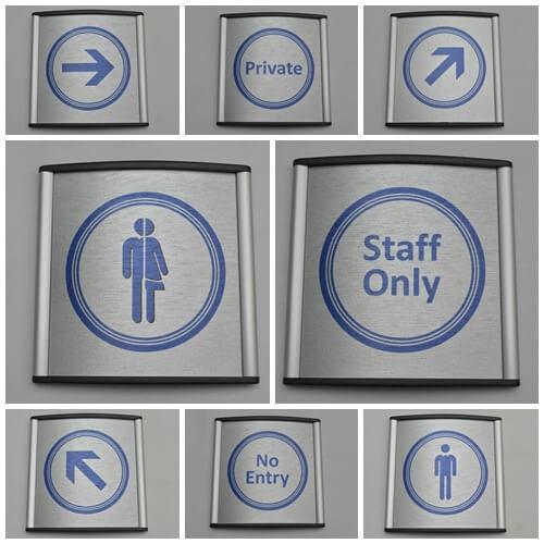 Aluminium Toilet Signs