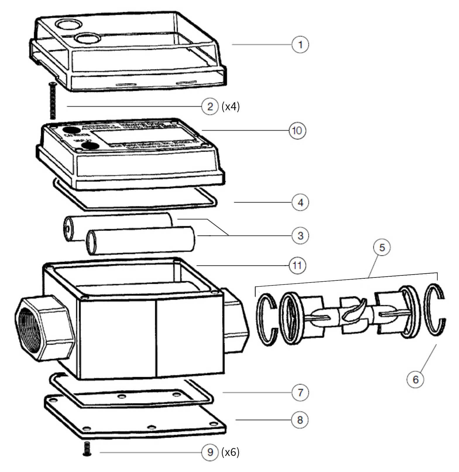 Order G2 Series Flow Meter Parts Online