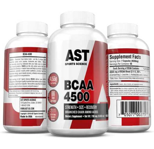 BCAA 4500 Best Branched Chain Amino Acid Supplement - 3-Up