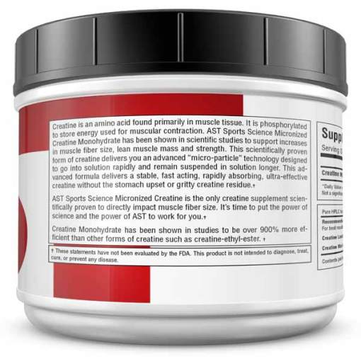 Micronized Creatine 530 Grams - Best Creatine - Information Panel