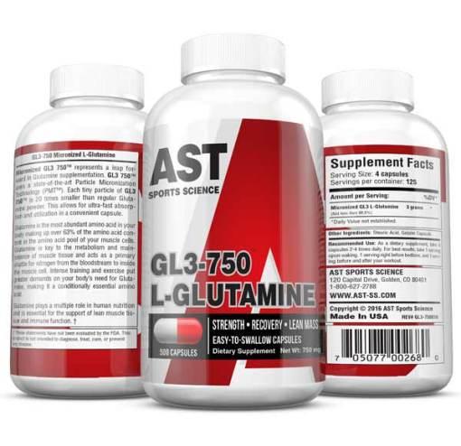 Best Glutamine Supplement - GL3 750 L-Glutamine Caps