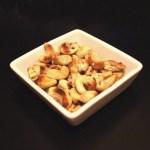 Stekta cashewnötter