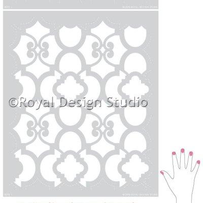 Schabloner, golv och färg