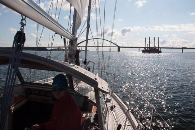 Fehmarnsundbrücke voraus