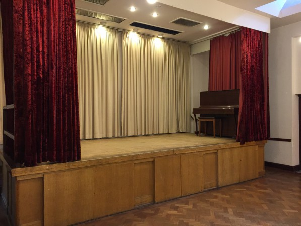 Stage with piano