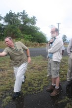 Tour leader Frank Taylor demonstrating some manouvres in Milne Bay PNG