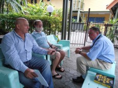 Steve, David and Frank in Port Moresby