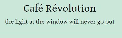 Café Révolution