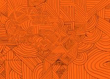 Liquified Flames - Ocean Orange