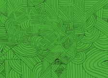 Seaweed Blotch - Peppermint Green