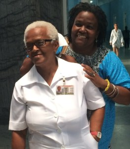"""Annet Sánchez (right) and her mother Dámasa at the Eusebio Hernández Ob-Gyn Hospital, Friend of Mother and Child in La Habana. """"In my home there was always a doctor,"""" says Sánchez. """"I'm an interpreter, but the doctor was always in me."""" (Photo: Nelly Rosario, 2015)"""