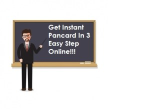 Get Instant Pancard Within 10 Minutes Through Aadhaar Card