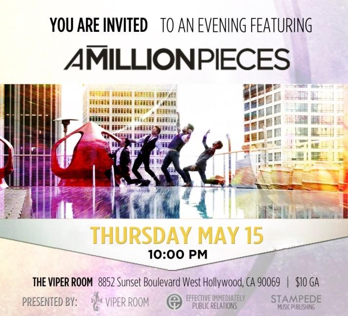 A Million Pieces Viper Room Flyer