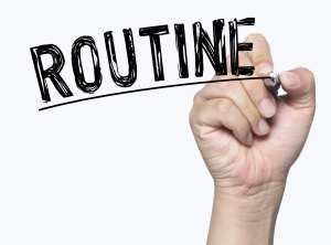 A routine helps with daily dental administrative schedules.