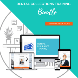 The Dental Collections Training Bundle is a great tool to train the dental team in receivables.