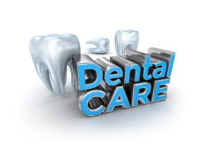 Dental care includes dental oral exams.