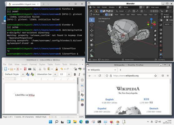 Windows 11にWSL 2、WSLgをインストール