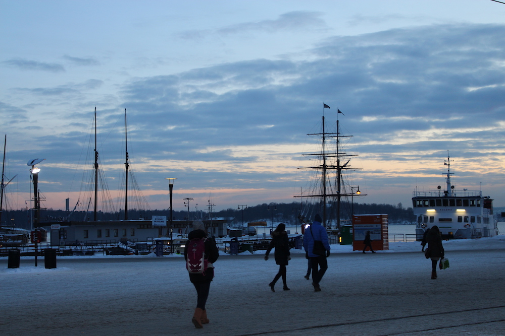 A weekend in Oslo - Oslo harbour at sunset