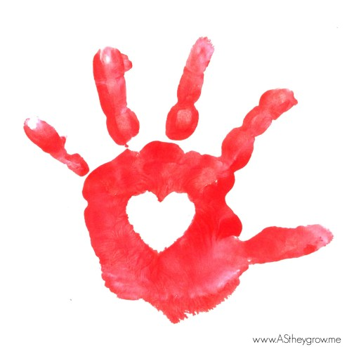 red heart hand 2