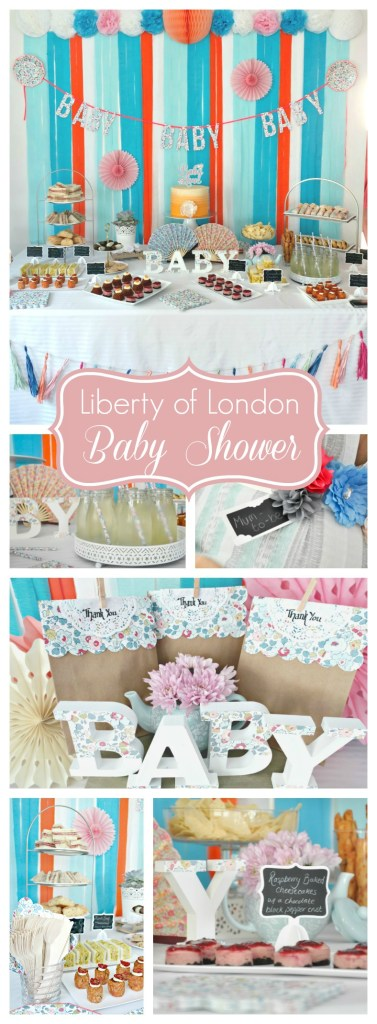 Floral Liberty of London Afternoon Tea Baby Shower