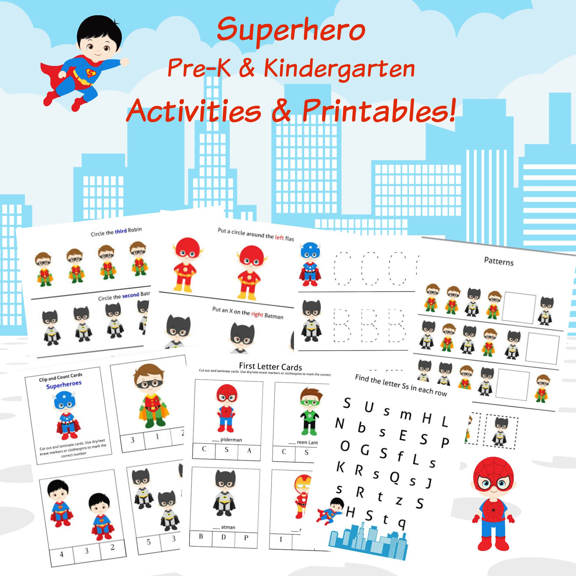 Free 30 Page Superheroes Printables Amp Activities
