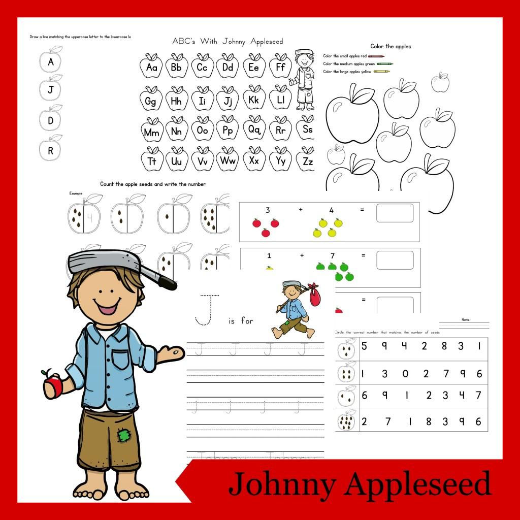 Johnny Appleseed Printable