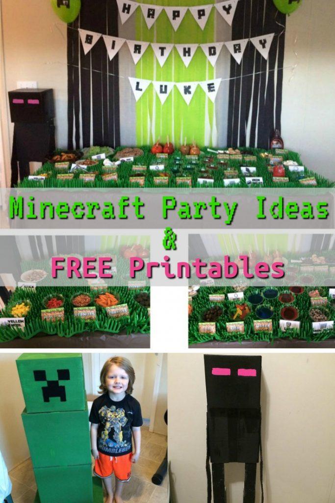 Minecraft Party Ideas & Free Printables