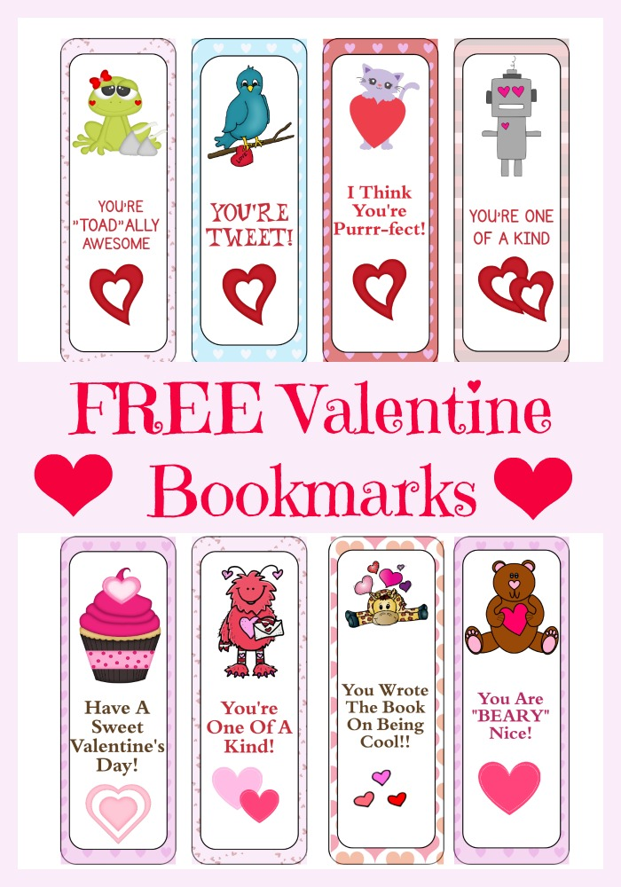 Peaceful image throughout printable valentine bookmark