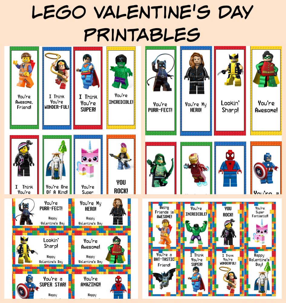 photo about Printable Valentine Bookmarks titled Cost-free LEGO Valentines Working day Playing cards Bookmarks Printable