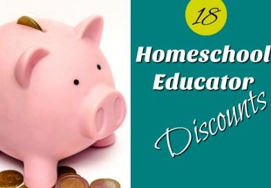 Homeschool Educator Discounts