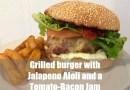 Jalapeno AIoli and a Tomato-Bacon Jam Burger