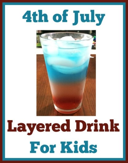 4th of July Layered Drink For Kids